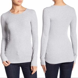 Splendid - Ribbed Crewneck Long-Sleeve Tee